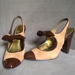 Linea Paolo - Italian made brown leather pump sz 7